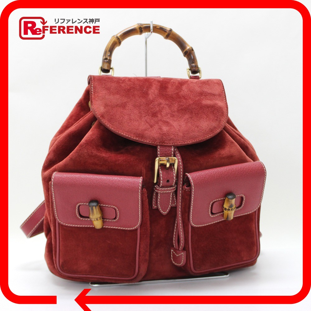 BRANDSHOP REFERENCE  GUCCI Gucci backpack bamboo backpack and ... 5dfa4b7e73