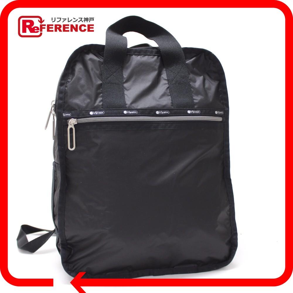 BRANDSHOP REFERENCE  AUTHENTIC LeSportsac Backpack Bag Nylon Black ... 5bd29c4463