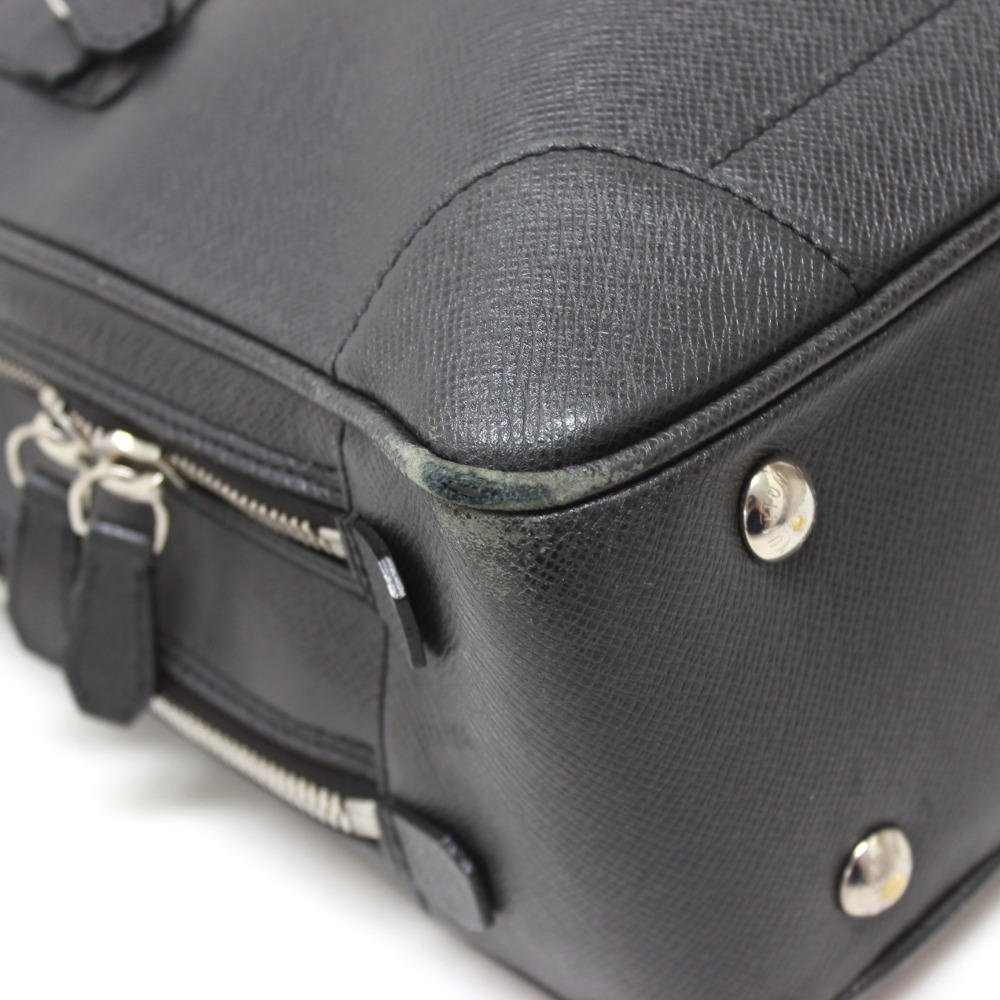 AUTHENTIC LOUIS VUITTON Taiga Alexander 2WAY Briefcase Bag Ardoise M31162