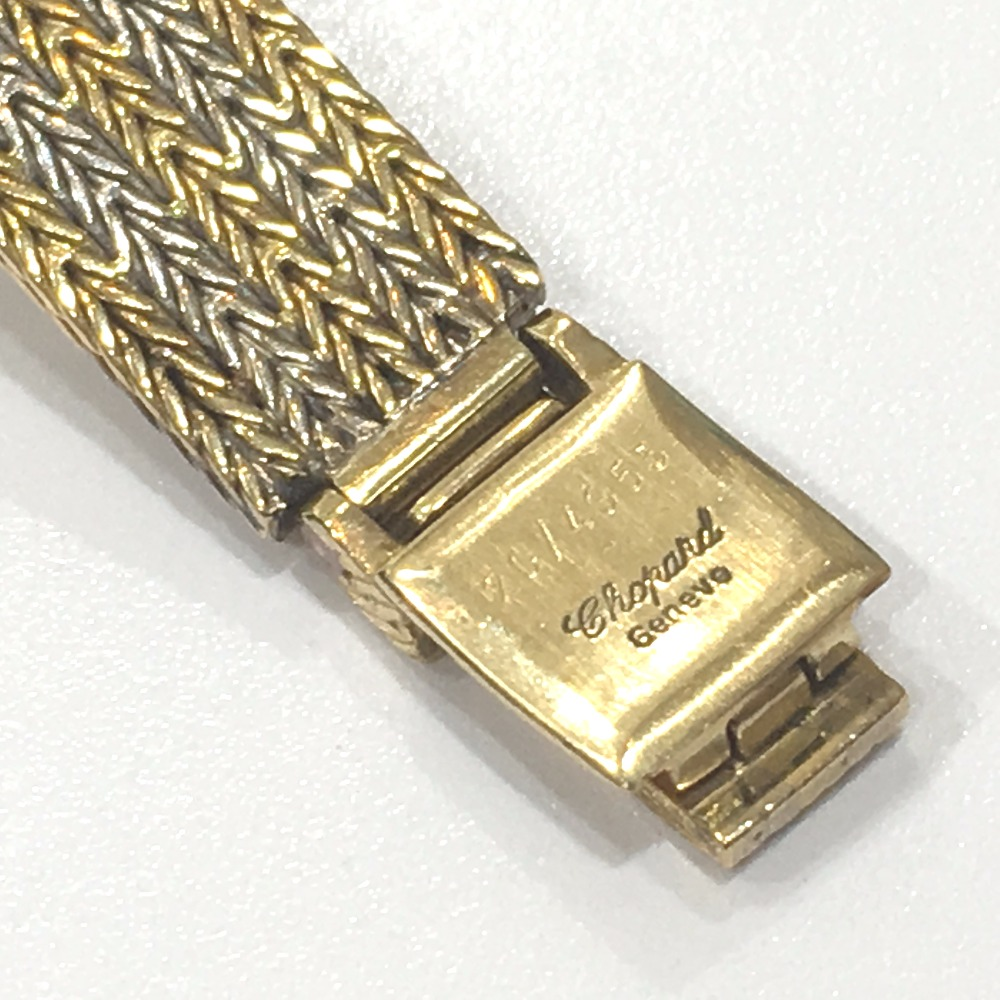 AUTHENTIC Chopard 5P diamond Happy Diamonds Golden gold double diamond Bezel Wristwatch/Yellow Gold K18 Yellow Gold/K18WG 4097