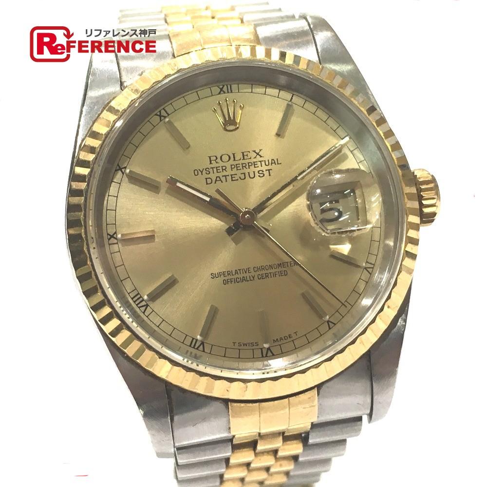 ROLEX ロレックス 16233 デイトジャスト 腕時計 SS/YG メンズ【中古】