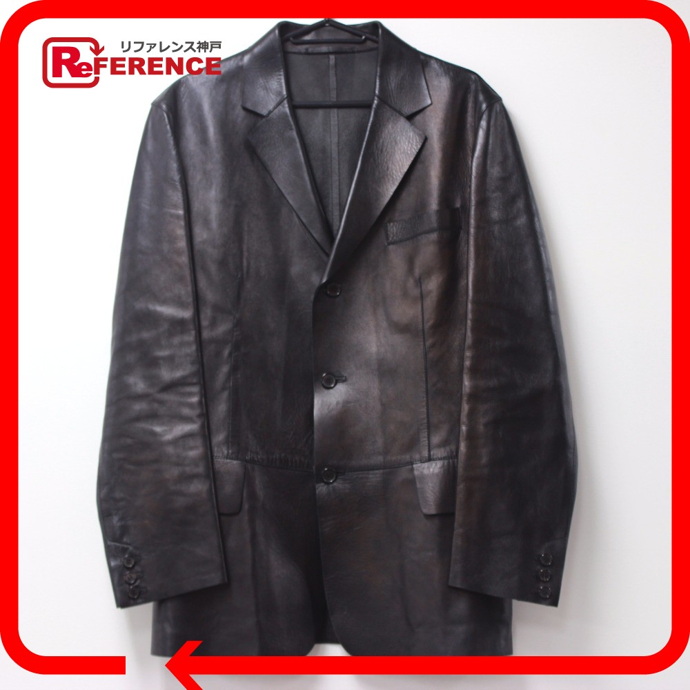 Brandshop Reference Authentic Gucci Apparel Outer Leather Jacket