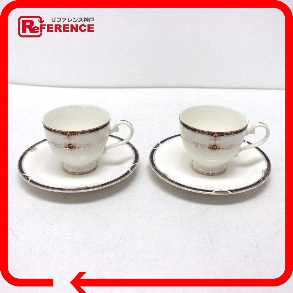 AUTHENTIC Western Tableware Orient Express Orient Express Cup u0026 Saucer 2 customer set Other White/blue Pottery  sc 1 st  Rakuten & BRANDSHOP REFERENCE | Rakuten Global Market: AUTHENTIC Western ...