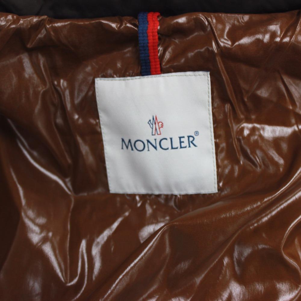 MONCLER僧侶軌道食物從屬于的降低大衣長羽毛衣JURA侏羅系服飾外衣羽毛衣暗褐色女士