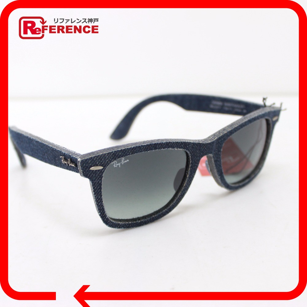 AUTHENTIC Ray-Ban WAYFARER Wayfarer Denim sunglasses blue Denim Plat stick  RB2140-F 3d7110822808