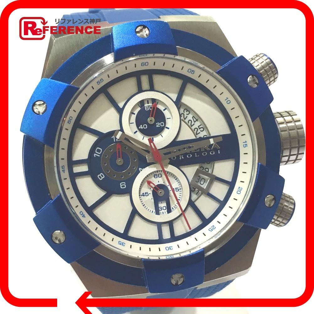 BRERA OROLOGI ブレラオロロジ BRSSC4917 SUPERSPORTIVO 48 スーパースポルティーボ 腕時計 SS/ラバー ブルー メンズ【中古】