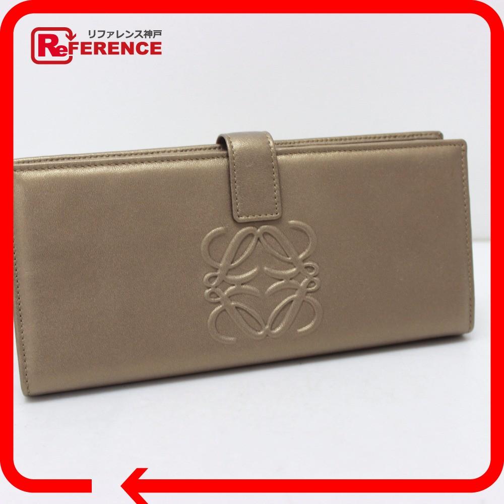 103ac3c4888a LOEWE ロエベ 2つ折り長財布 長財布(小銭入れあり) レザー ゴールド レディース ...