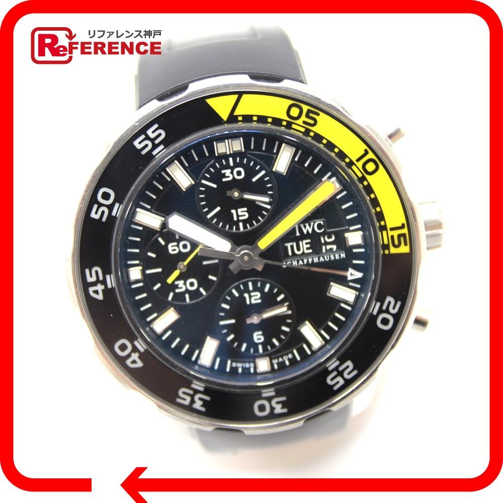 IWC インターナショナルウォッチカンパニー IW376709 メンズ腕時計 アクアタイマー クロノグラフ 腕時計 SS/ラバー シルバー メンズ【中古】