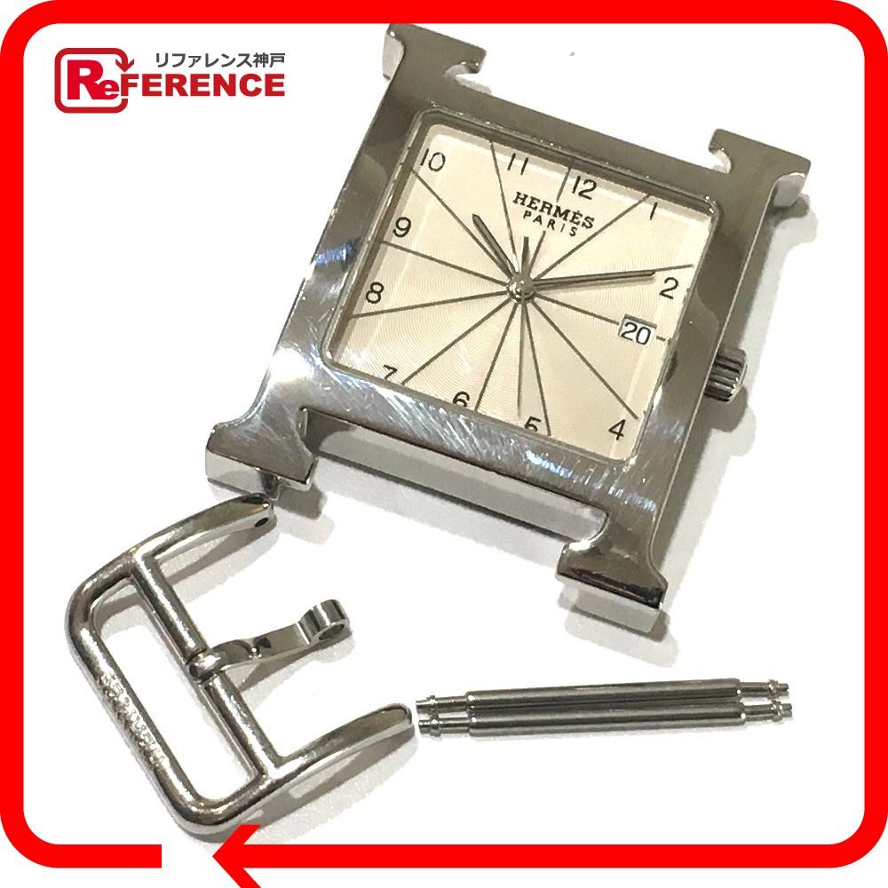 1996c9afe214 HERMES エルメス HH1.810 メンズ腕時計 ビッグケース Hウォッチ SS シルバー メンズ【中古】 腕時計-メンズ腕時計