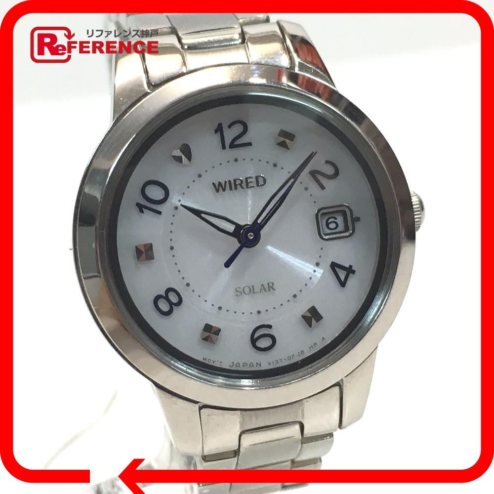 WIRED ワイアード V137-0CM0 レディース腕時計 ソーラー 腕時計 メッキ SS レディース【中古】