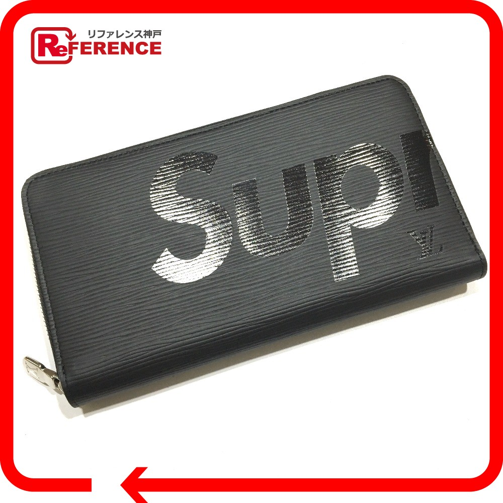 65d8fd6cb0fb AUTHENTIC LOUIS VUITTON Epi Supreme Collaboration Zippy - Organizer Louis  vuitton x SUPREME Z.ORG.SP EPI DWT NOIR Long wallet Black Epi Leather M67723
