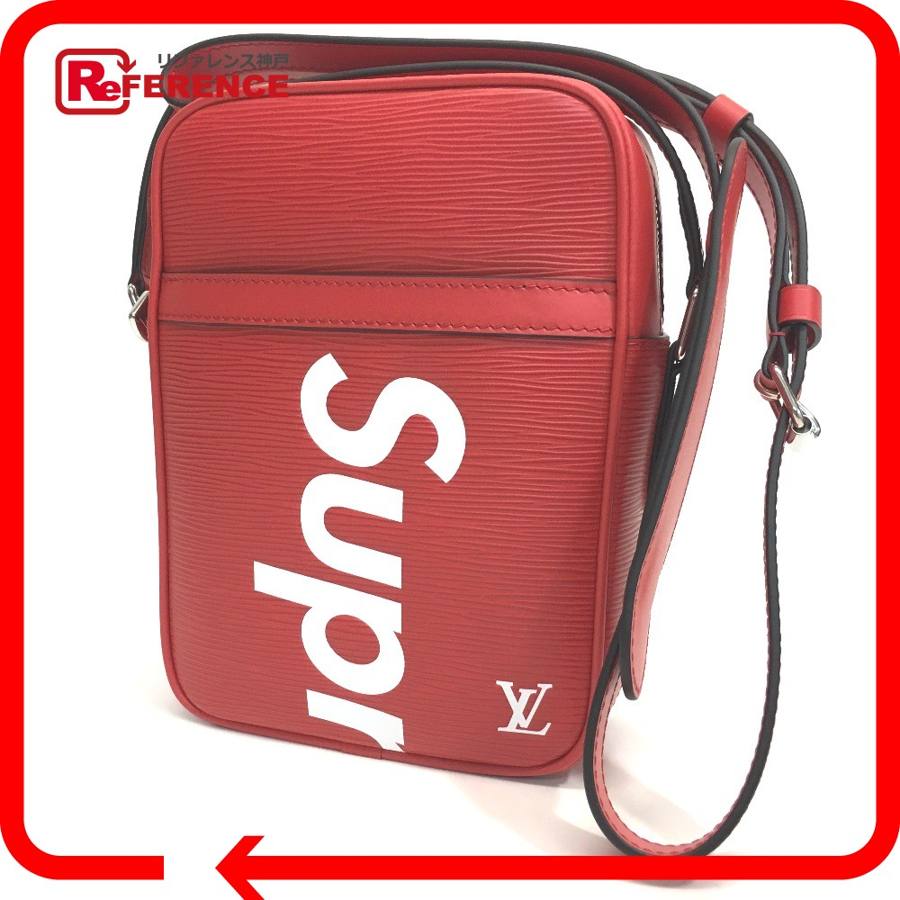 6014786ab34d AUTHENTIC LOUIS VUITTON Louis Vuitton x Supreme Epi DanubePM 17 AW Supreme  Louis Vuitton danube pm sp epi dwt re Shoulder Bag Red Epi Leather M53417