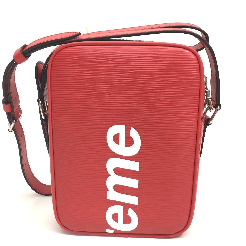 AUTHENTIC LOUIS VUITTON Louis Vuitton x Supreme Epi DanubePM 17 AW Supreme  Louis Vuitton danube pm sp epi dwt re Shoulder Bag Red Epi Leather M53417 42e8a837643f8