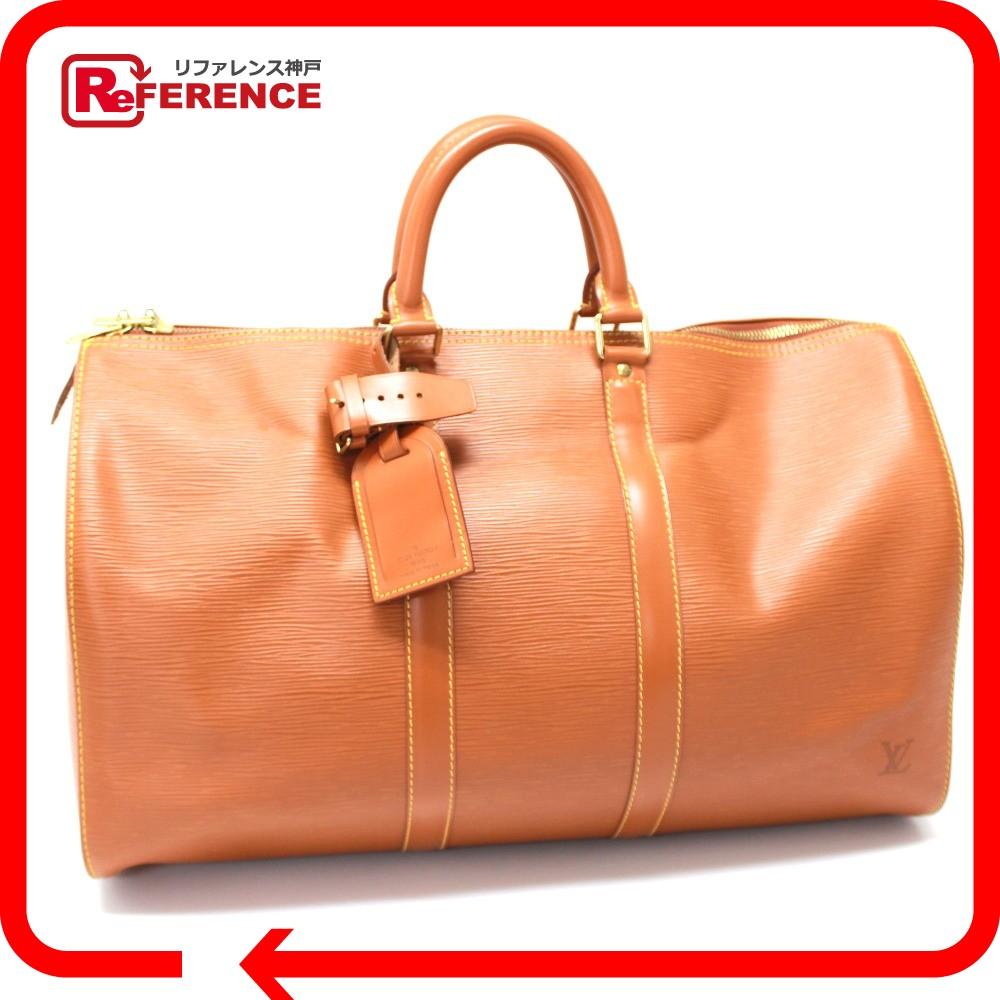 AUTHENTIC LOUIS VUITTON Epi Keepall 45 Hand Bag Men s Women s Duffle Bag  Epi Leather M42978 6b909aa041
