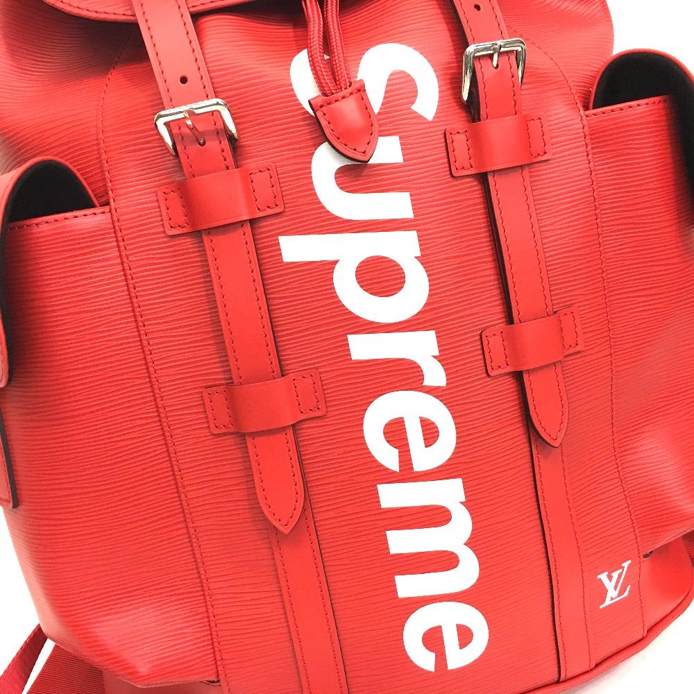 AUTHENTIC LOUIS VUITTON Louis Vuitton x Supreme Epi Christopher PM backpack  17 AW Supreme Louis Vuitton christopher backpack pm red Backpack - Daypack  Red ... fb8c8929a1463