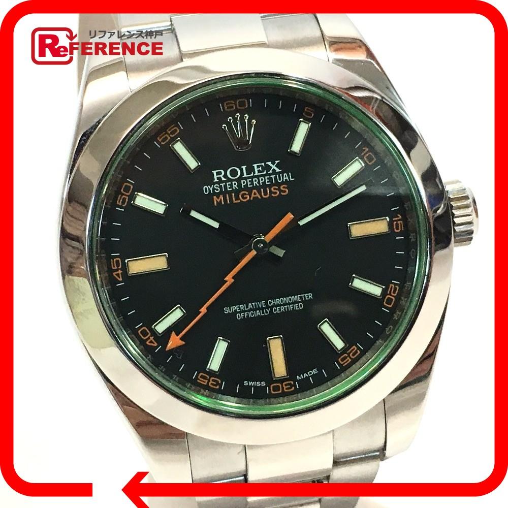 ROLEX ロレックス 116400GV オイスターブレスレット ミルガウス オイスター パーペチュアル 腕時計 SS シルバー メンズ 新品同様【中古】