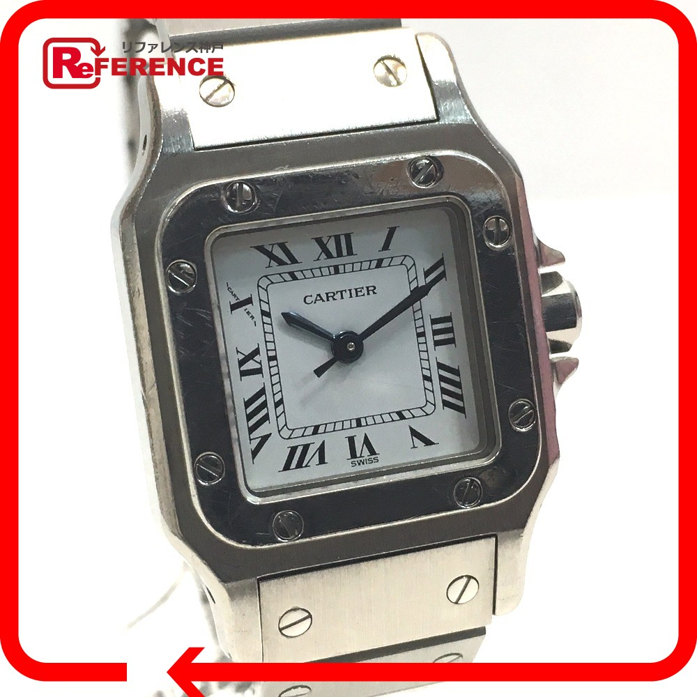 detailed pictures f7969 98614 CARTIER カルティエ レディース腕時計 新品 サントスガルべSM ...