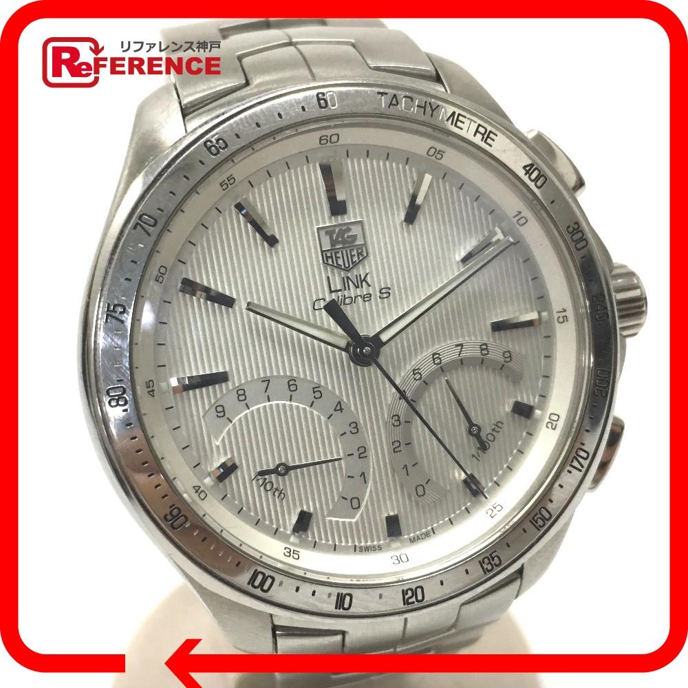 TAG HEUER タグホイヤー CAT7011 メンズ腕時計 リンク キャリバーS クロノグラフ 腕時計 SS シルバー メンズ【中古】