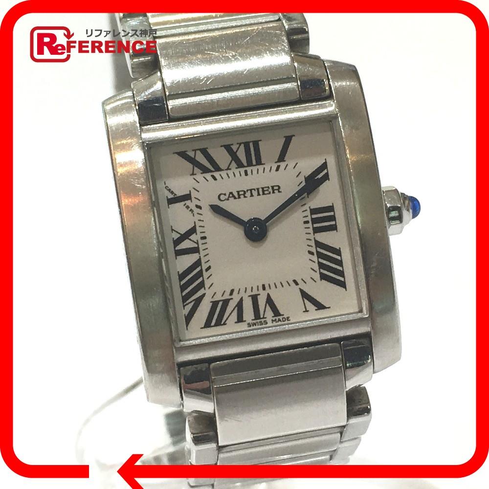 CARTIER カルティエ W51008Q3 タンクフランセーズSM  腕時計 SS シルバー レディース【中古】