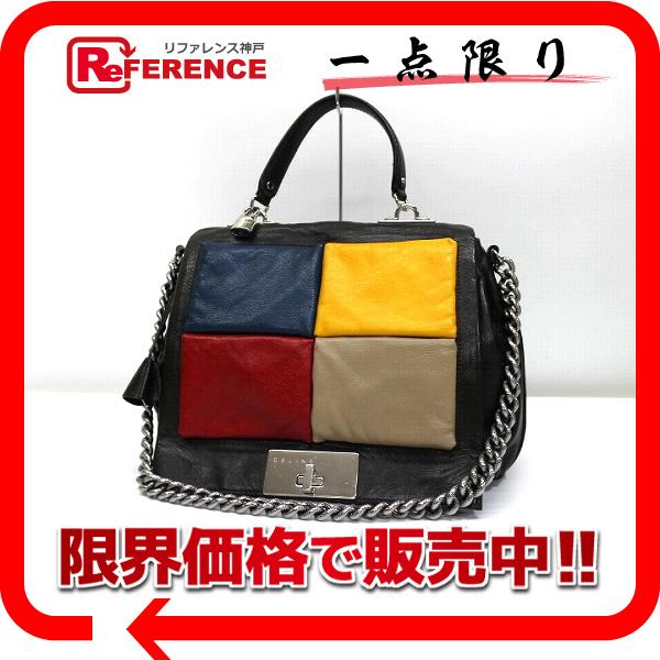 BRANDSHOP REFERENCE  CELINE Celine leather 2-WAY chain shoulder bag dark  Kirk series x multi-color pre KK  ba85c5ce60412