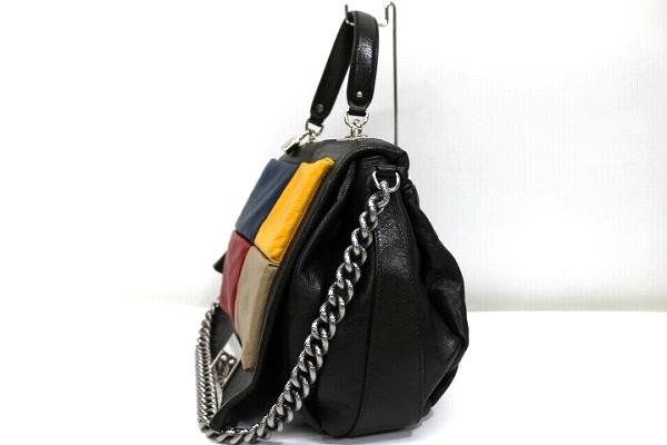 CELINE Celine leather 2-WAY chain shoulder bag dark Kirk series x  multi-color pre KK bda0a8aedcfdb