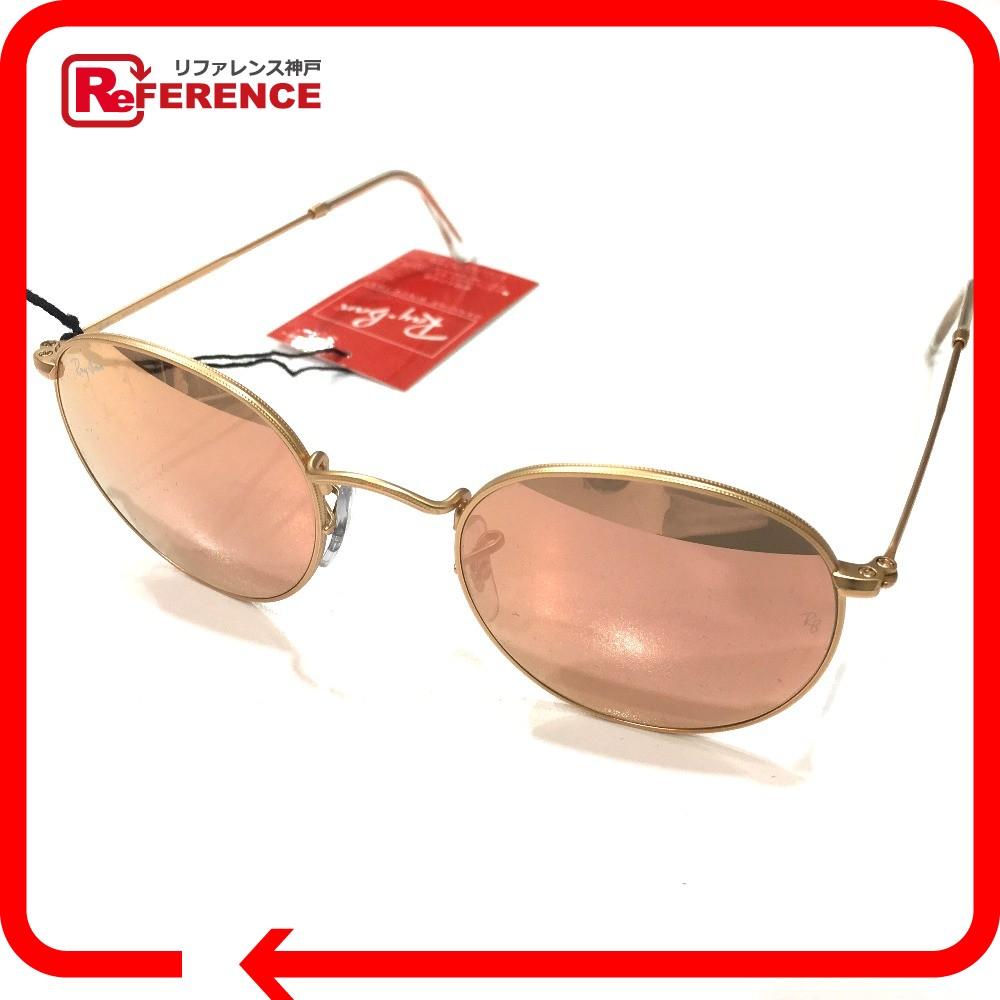 Ray-Ban レイバン RB3447 ミラーサングラス レディース メンズ サングラス /ガラス/ニッケル合金 ゴールド ユニセックス 未使用【中古】