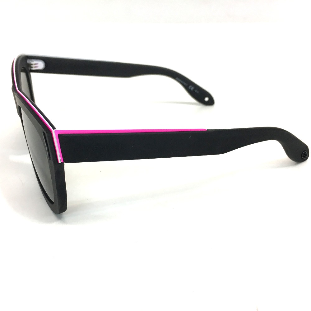 AUTHENTIC GIVENCHY Men's Women's Fashion accessories Rubber frame sunglasses Black/pink rubber GV 7016/S