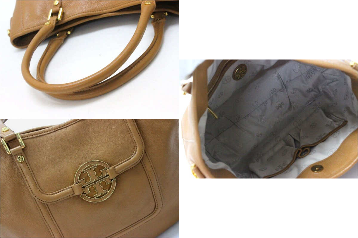 d3cadafb40dd TORY BURCH Tory Burch Amanda leather tote bag camel Brown beauty products  used