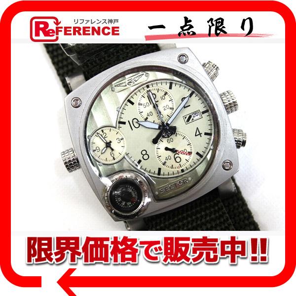 SECTOR セクター 3251907045 メンズ腕時計 コンパス デュアル 腕時計 SS ブラック メンズ 未使用【中古】