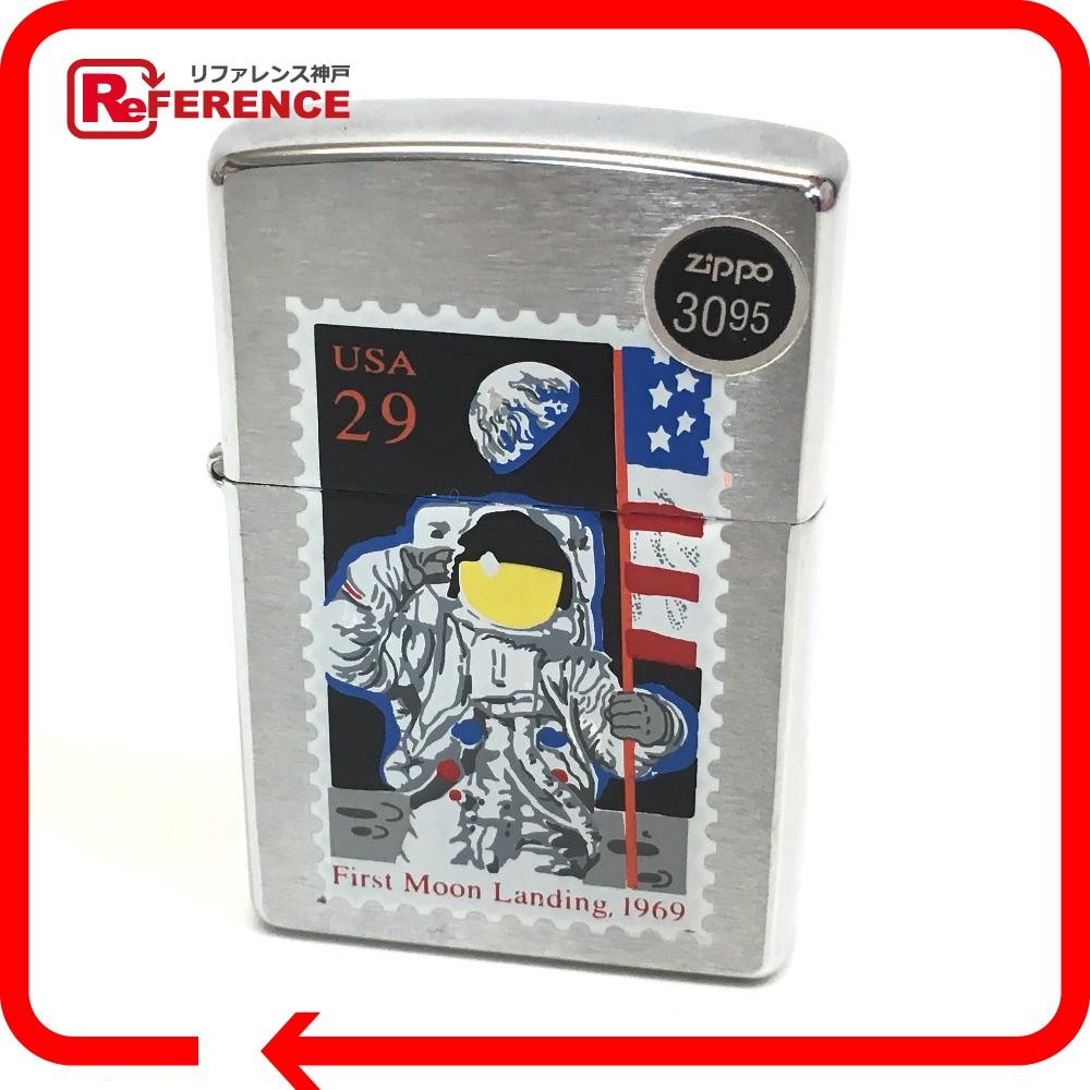 ZIPPO ジッポ オイルライター 月面着陸記念 USA29 ライター シルバー ユニセックス【中古】