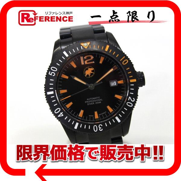 HUNTING WORLD ハンティングワールド HW004 メンズ腕時計 ブラックウォーター ダイバー200 腕時計 SS ブラック メンズ 未使用【中古】