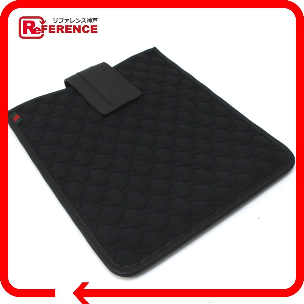 GUCCI グッチ 256575 GG柄 シェリーライン iPadケース レザー/ネオプレンGG ブラック レディース 新品同様【中古】