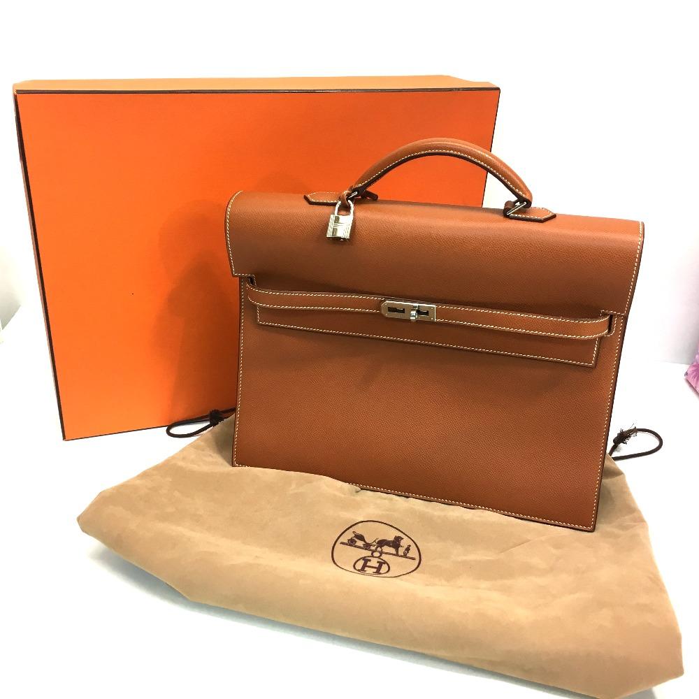 d8faaf7fc4b ... australia authentic hermes kelly depeche 34 briefcase business bag gold  silverhardware epsom d7c86 050cb ...