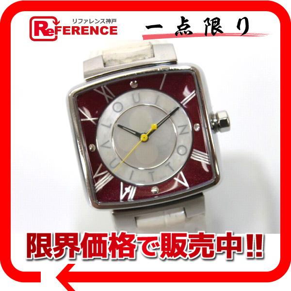 LOUIS VUITTON ルイ・ヴィトン Q221J レディース腕時計 クオーツ マジックスピーディ 腕時計 SS/ホワイトアリゲーターベルト レディース【中古】