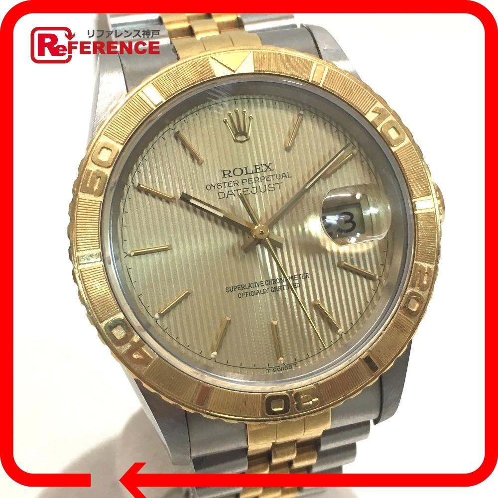 ROLEX ロレックス 16263 メンズ腕時計 デイトジャスト サンダーバード S番 腕時計 K18YG/SS シルバー×ゴールド メンズ【中古】
