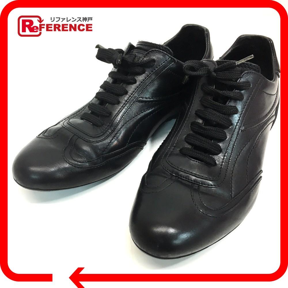 LOUIS VUITTON ルイ・ヴィトン オールレザー メンズシューズ 靴 スニーカー レザー ブラック メンズ【中古】