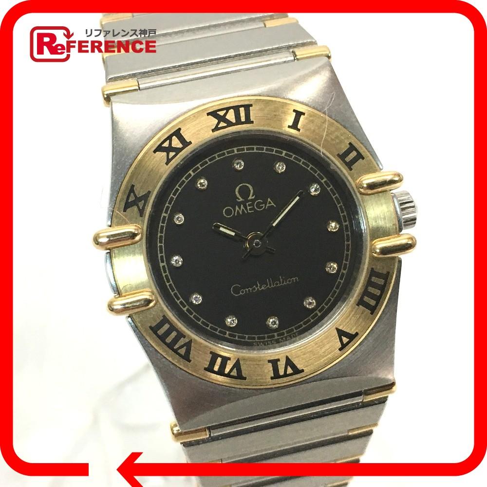 OMEGA オメガ レディース腕時計 コンステレーション ミニ コンビ 12Pダイヤ 腕時計 SS/YG シルバー×ゴールド レディース【中古】