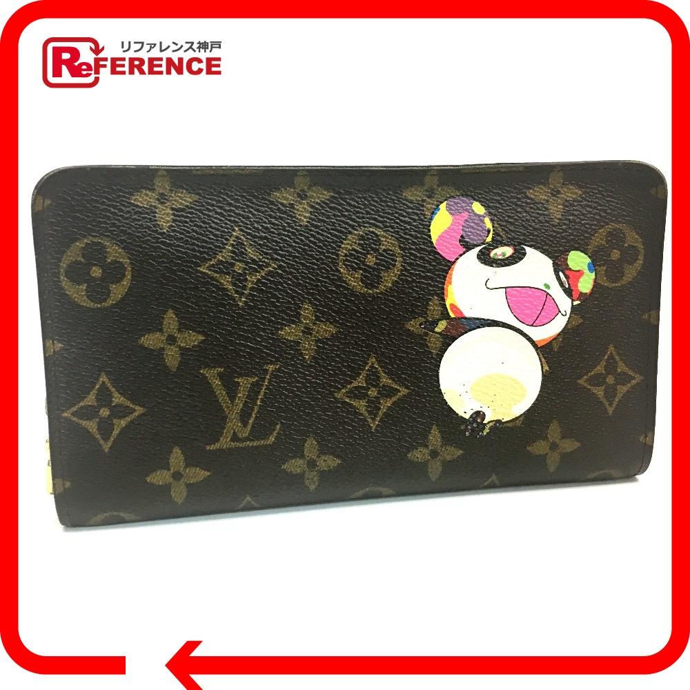 64a1892d4d16 LOUIS VUITTON Louis Vuitton M61729 round fastener long wallet Porto Monet zip  monogram panda long wallet (there is a coin purse) monogram canvas Lady s