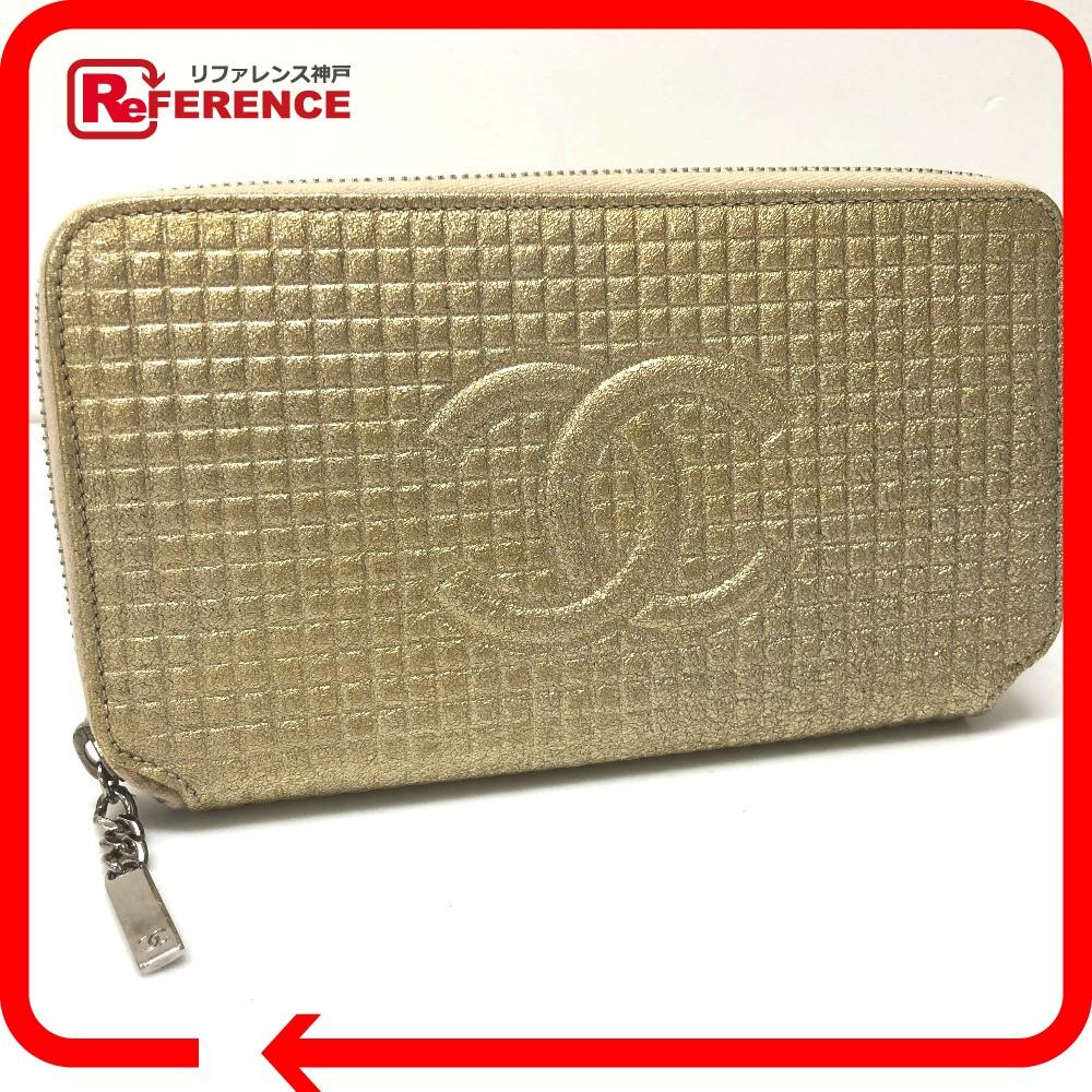 969c7580b1f7 CHANEL シャネル ラウンドファスナー長財布 マイクロチョコバー CC 長財布(小銭入れあり