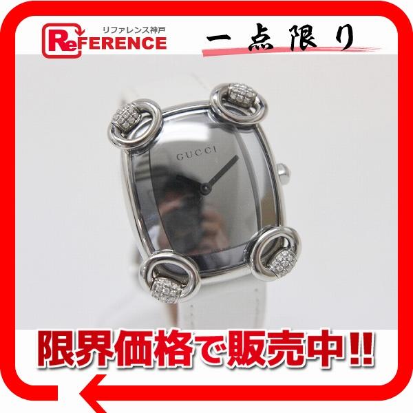 GUCCI グッチ 117.5 レディース腕時計 ラグダイヤ ホースビットカクテル 腕時計 SS/レザー レディース【中古】