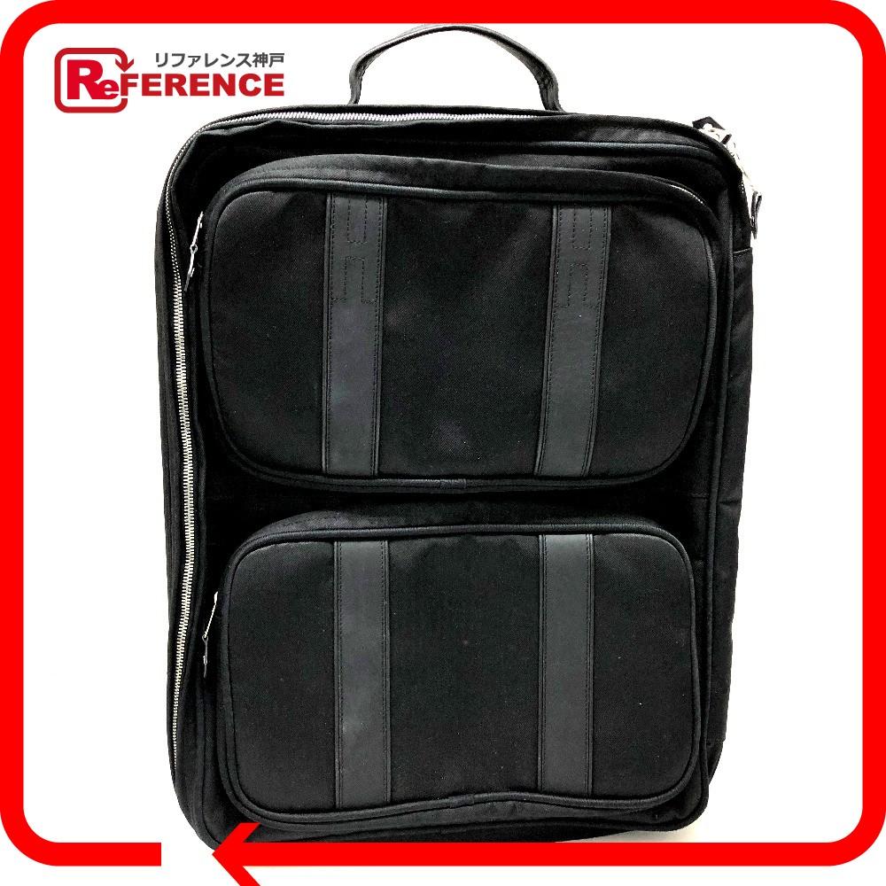 HERMES エルメス スーツケース  アコプルコ MM キャリーバッグ ナイロン×レザー ブラック レディース【中古】