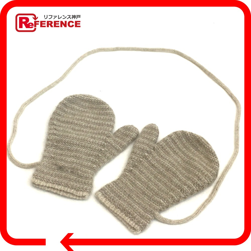 e684e79a32e AUTHENTIC HERMES Baby mittens Fashion accessories gloves A glove Beige