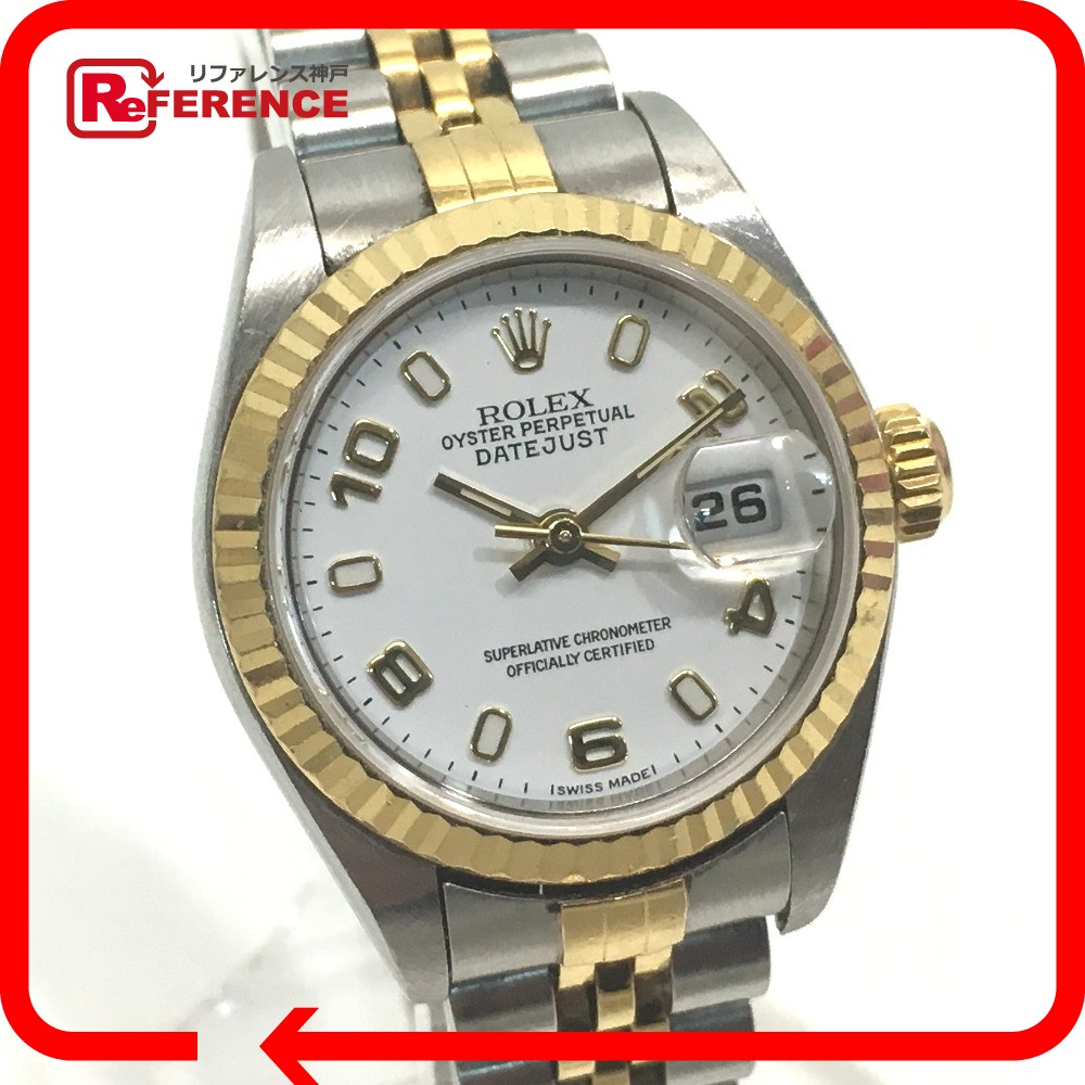 76554116568 AUTHENTIC ROLEX Oyster Perpetual Combi Datejust K number Women ssWristwatch  Wristwatch Silver Gold Stainless Steel   YG 79173