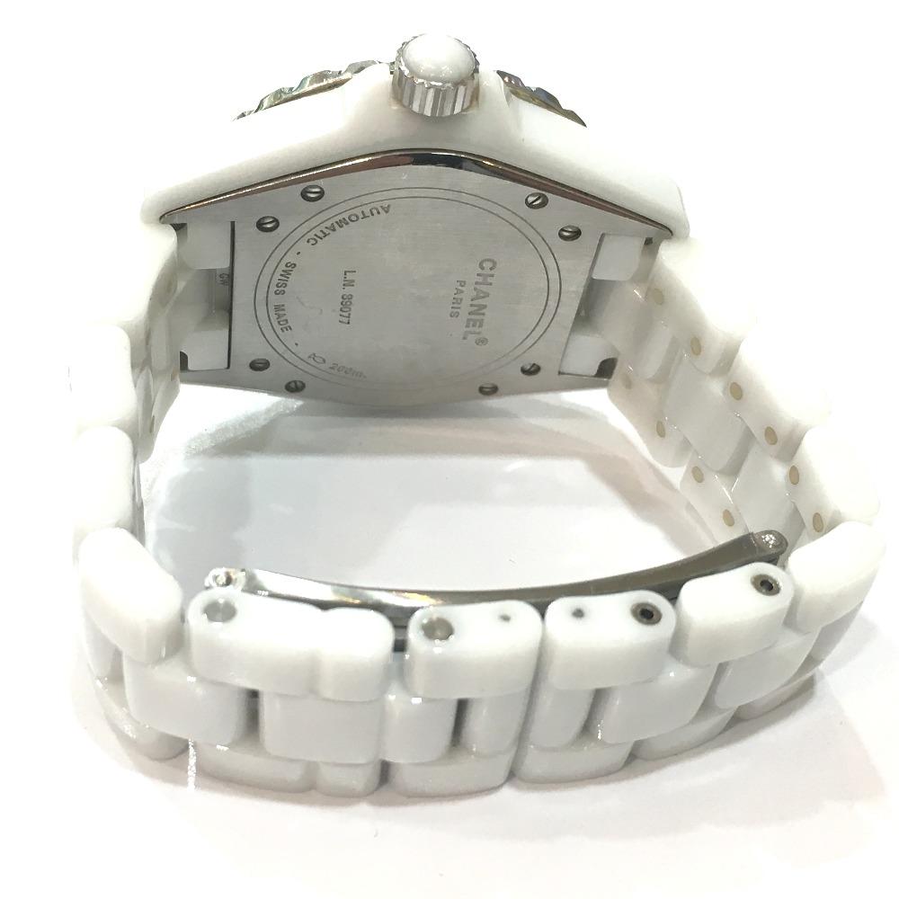 d31bbf3167dc CHANEL シャネル H1629 J12 12Pダイヤ 腕時計 ホワイトセラミック ...