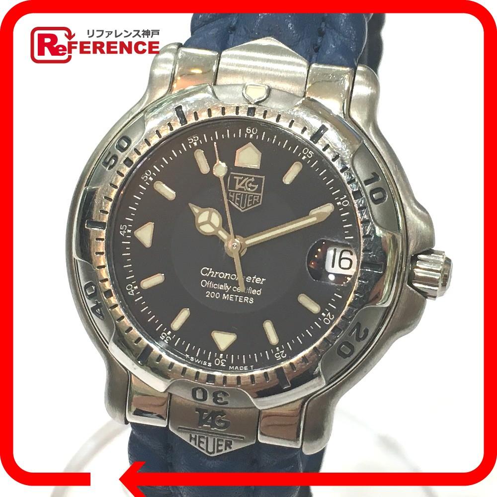 TAG HEUER タグホイヤー WH5123 ボーイズ腕時計 6000シリーズ クロノメーター 腕時計 SS/レザー シルバー メンズ【中古】