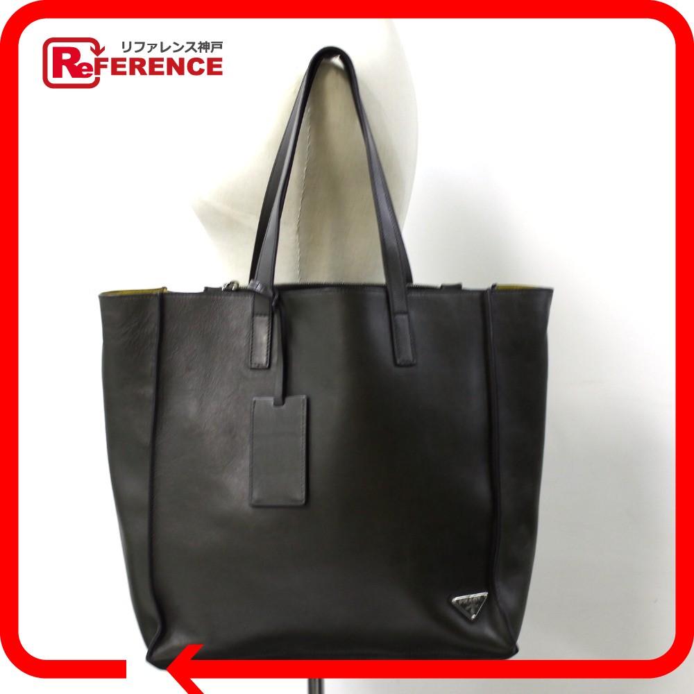 1709aaf49876 BRANDSHOP REFERENCE: AUTHENTIC PRADA Logo plate 2 WAY Bag Tote Bag Shoulder  Bag Green/