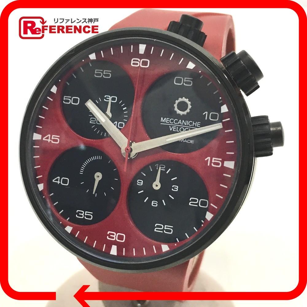 メカニケ・ヴェローチ W123K140378017 250本限定 メンズ腕時計 クアトロヴァルヴォレ エボリューション44 腕時計 チタニウム/ラバー レッド メンズ【中古】