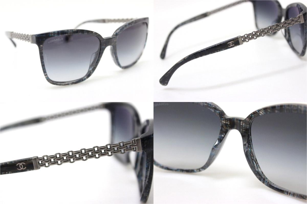 dcd5303c36ec BRANDSHOP REFERENCE  CHANEL Chanel chain motif sunglasses brand new dark  grey series 5325-A
