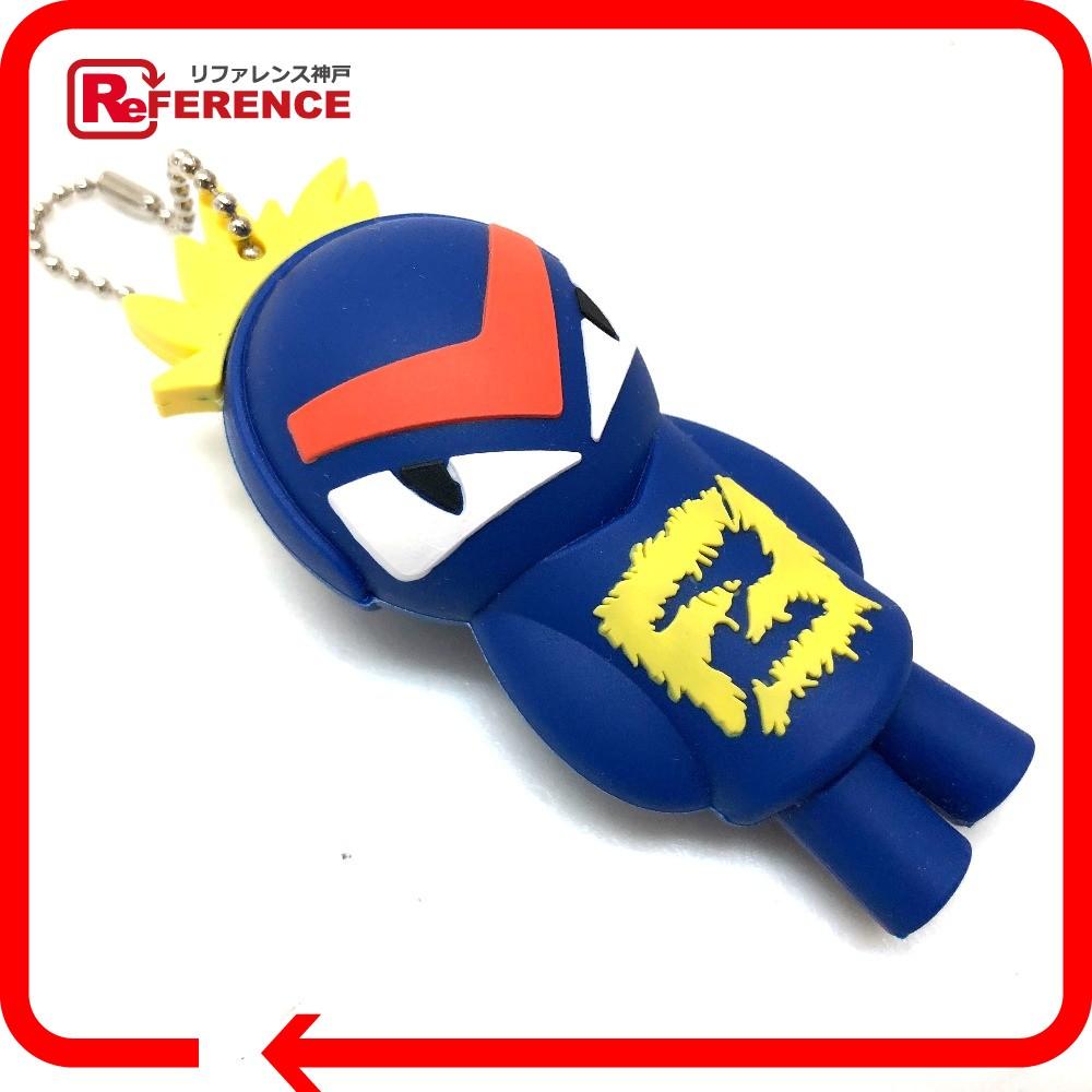 FENDI フェンディ バッグチャーム USB バグ キーホルダー ゴム素材/ レディース 未使用【中古】