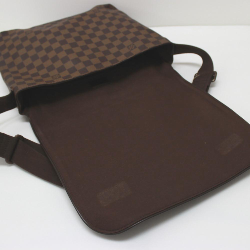 1f0eaa79f8db AUTHENTIC LOUIS VUITTON Damier Brooklyn MM Crossbody Shoulder Bag Shoulder  Bag DamierCanvas N51211